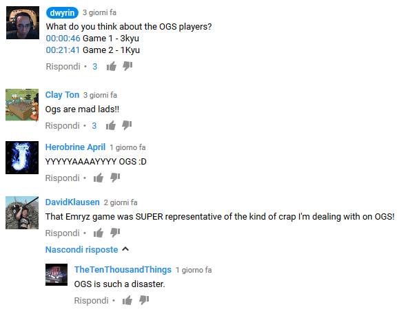 What people think about the OGS players? (youtube and Dwyrin